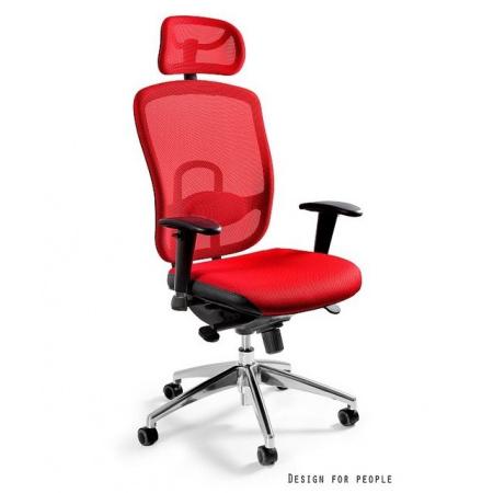 Unique Vip Fotel biurowy, czerwony W-80-2