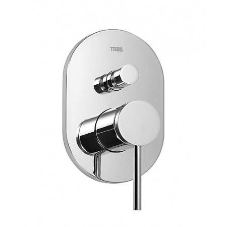 Tres Mono-Term Jednouchwytowa bateria wannowo-prysznicowa podtynkowa 2-drożna z dźwignią, chrom 201.180.02