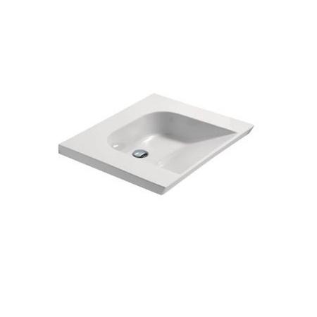 Catalano Verso Comfort Umywalka wisząca 70x60 cm z powłoką CataGlaze, biała 1LAHN00