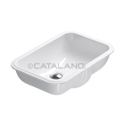 Catalano Sottopiano Umywalka podblatowa 50x35 cm z powłoką CataGlaze, biała 1S50CN00 / S50CN