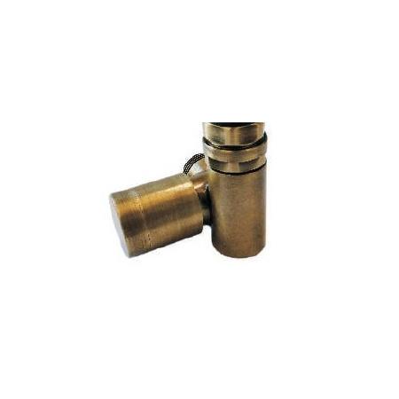 Schlosser Zawór grzejnikowy do grzałki elektrycznej z pokrętłem - prawy antyczny mosiądz ze złączką na PEX (604900082)