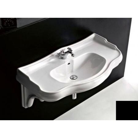 Kerasan Retro Wspornik ceramiczny do umywalki, czarna 1079CZB