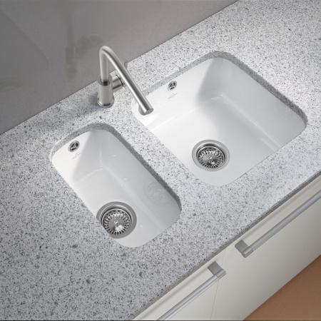 Villeroy & Boch Cisterna Zlewozmywak podblatowy ceramiczny 50 Classicline 44,5x44,5 cm, biały 6703