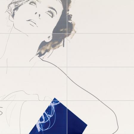 Tubądzin Berlin Tegel Dekor ścienny Valerie 119,8x119,8 cm 8-elementowy