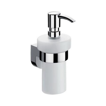 Emco Mundo Dozownik do mydła w płynie z uchwytem 7,4x11x17,3 cm, chrom 332100102