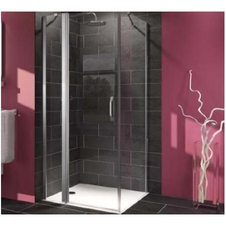 Huppe Ena Kabina prysznicowa narożna, drzwi skrzydłowe ze stałym segmentem, część 1 - 100/190 Srebry błyszczący Szkło przezroczyste 121302.069.321
