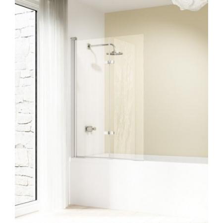 Huppe Design Elegance Parawan nawannowy, drzwi skrzydłowe składane - Mocowanie lewe 120/150 chrom eloxal Szkło przezroczyste 8E2302.092.321