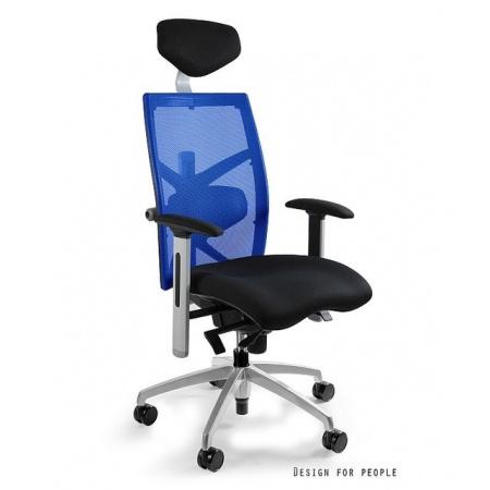 Unique Exact Fotel biurowy, niebieski W-099Y-BL418-7
