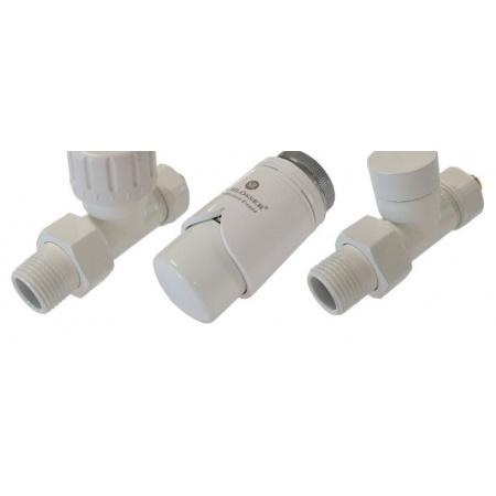 Schlosser zestaw zaworów termostatycznych biały wersja prosta biały (604200032)