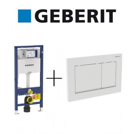 Geberit Zestaw Duofix Element montażowy do WC Omega H112 + Omega 30 Przycisk uruchamiający, 111.060.00.1 + 115.080.KJ.1