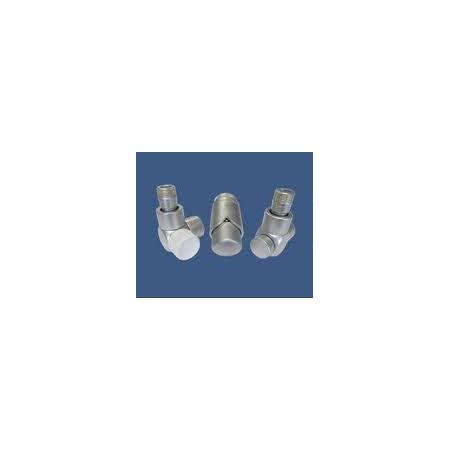 Schlosser Exclusive zestaw łazienkowy GZ ½ x złączka 15x1 Stal kątowy satyna 601700155