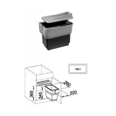 Blanco SELECT SINGOLO sortownik odpadów 512880