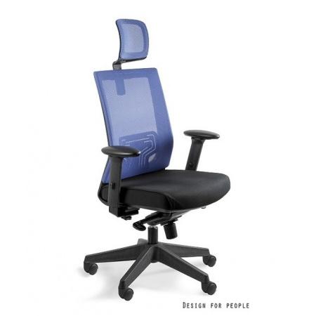 Unique Nez Fotel biurowy, niebieski W-879K-MESH33