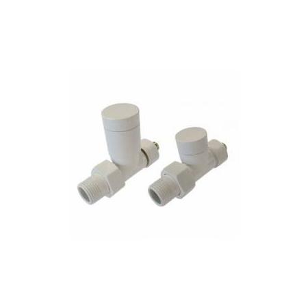 Schlosser Elegant zestaw grzejnikowy prosty Cu biały 6042 00021