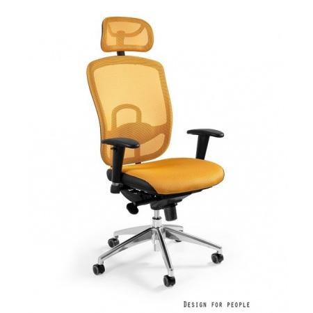 Unique Vip Fotel biurowy, żółty W-80-10