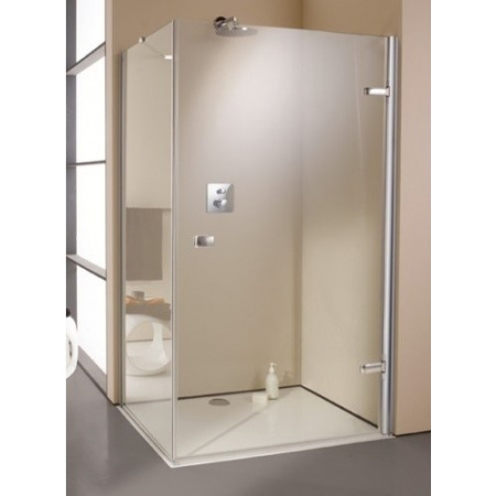 Huppe Enjoy Elegance Drzwi prysznicowe 90x200 cm do ścianki bocznej ze stałym segmentem prawe, chrom 670061.091.321