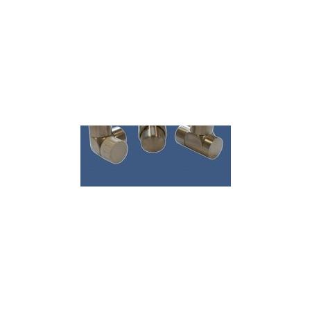 Schlosser Zestaw łazienkowy LUX GZ 1/2x złączka 16x2 PEX - osiowo lewy stal (603700042)
