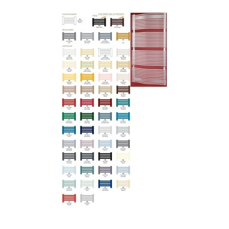 Zeta FASHION Grzejnik łazienkowy 723x1016, dolne zasilanie, rozstaw 935 kolory metalizados - FA7X10M