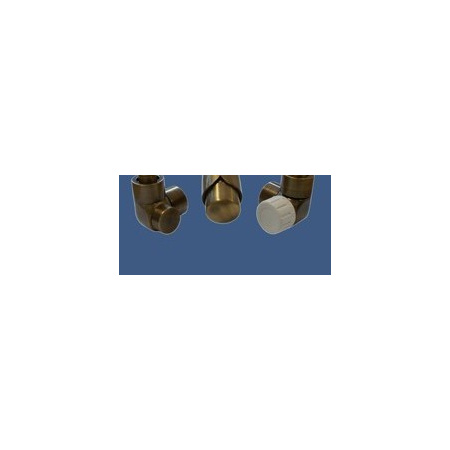 Schlosser Zestaw łazienkowy LUX GZ 1/2x złączka 16x2 PEX - osiowo lewy antyczny mosiądz (603700054)