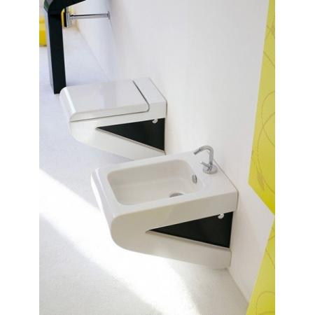 Art Ceram La Fontana Bidet wiszący 36x54 cm, biały, bok czarny S04CZ / LFB00101;50
