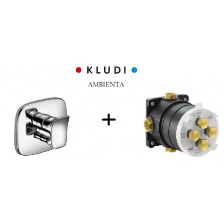 Kludi Ambienta Kompletna bateria wannowo-prysznicowa podtynkowa z elementem zewnętrznym i podtynkowym, chrom 536500575+88011