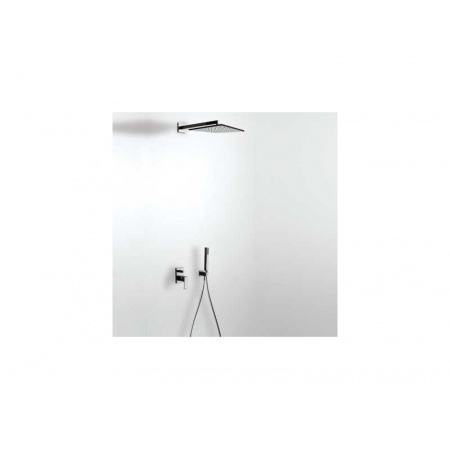 Tres Cuadro Exclusive Zestaw prysznicowy z baterią podtynkową i deszczownicą, biały-chrom 4.06.980