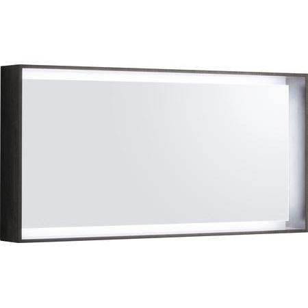 Keramag Citterio Lustro prostokątne 118,4x58,4x14 cm z oświetleniem LED, dąb czarny 835621000