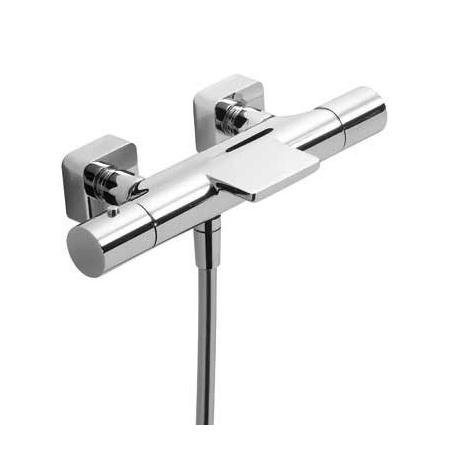 Tres Loft-Tres Bateria wannowo-prysznicowa termostatyczna ścienna z kaskadową wylewką chrom 200.174.09