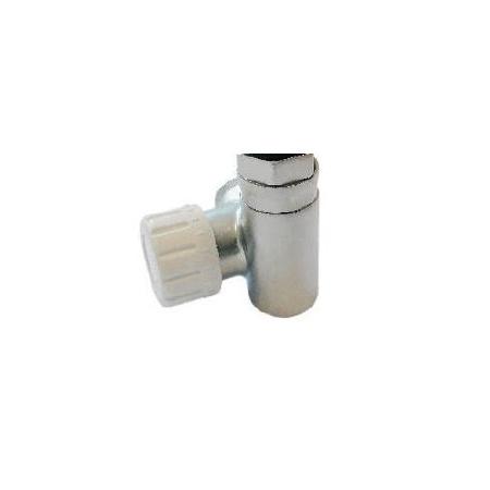 Schlosser Zawór termostatyczny do grzałki elektrycznej - prawy satyna ze złączką PEX (604900014)