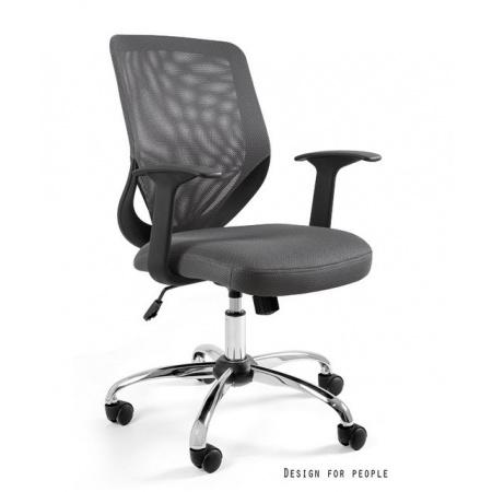 Unique Mobi Fotel biurowy szary W-95-8