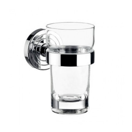 Emco Polo Kubek szklany z uchwytem 6,4x9,8x11,5 cm, chrom 072000100