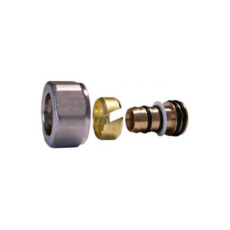 Schlooser złączka zaciskowa do rury z tworzywa sztucznego GW M22x1,5 - 16x2 satyna 602600003.02