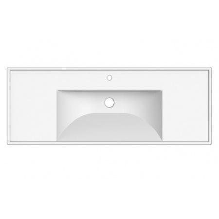 Scarabeo ML Umywalka wisząca lub wpuszczana w blat 121x46,5x18,5 cm, biała 3007