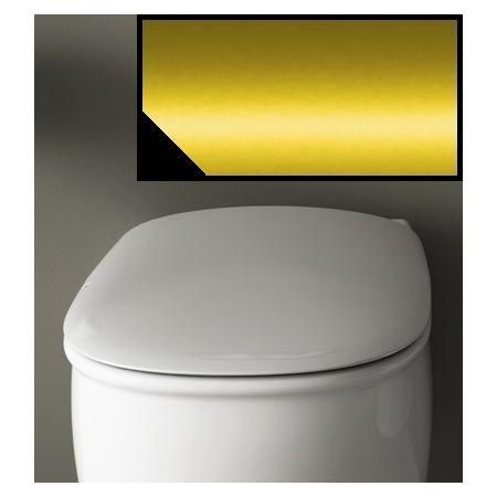 Art Ceram Azuley Deska wolnoopadająca 36x52 cm, czarna, zawiasy złote AZA00103;73