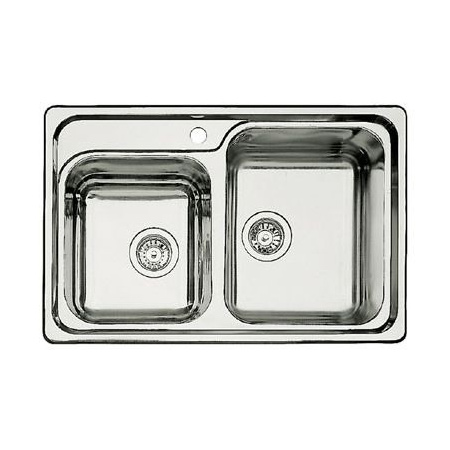 Blanco Classic 8 Zlewozmywak stalowy półtorakomorowy 78x51 cm bez korka automatycznego, stalowy 507543