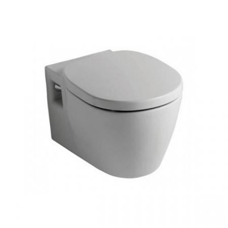Ideal Standard Connect Miska WC wisząca z półką i z deską zwykłą z duroplastu, biała E804501+E712801