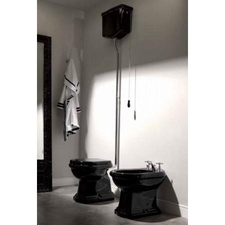 Kerasan Retro Miska WC stojąca odpływ pionowy 70,5x38,5 cm, czarna 1010CZB