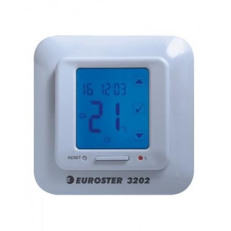 Euroster Regulator pokojowy dotykowy do regulacji mat elektrycznych, biały 3202