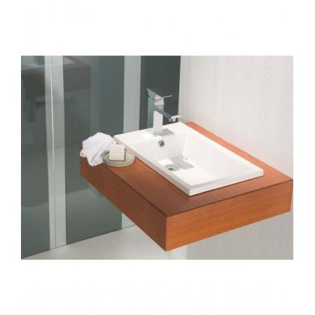 Bathco Top Umywalka wpuszczana w blat 50,5x30 cm dolomitowa, biała 0522