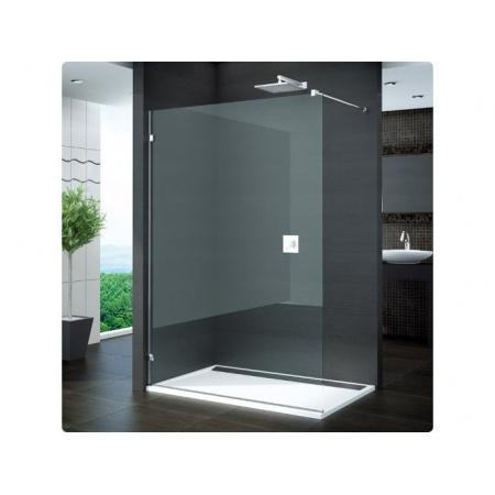 Ronal Pur Ścianka prysznicowa wolnostojąca, montaż bezprofilowy - Mocowanie prawe na wymiar Chrom Satynowa (PDT4DSM21049)