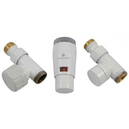 Schlosser Elegant Mini zestaw termostatyczny 1/2 x M22x1,5, prosty, biały 6034 00043