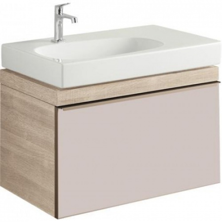 Keramag Citterio Szafka podumywalkowa wisząca 73,4x55,4x50,4 cm, jasny dąb/szkło taupe 835175000