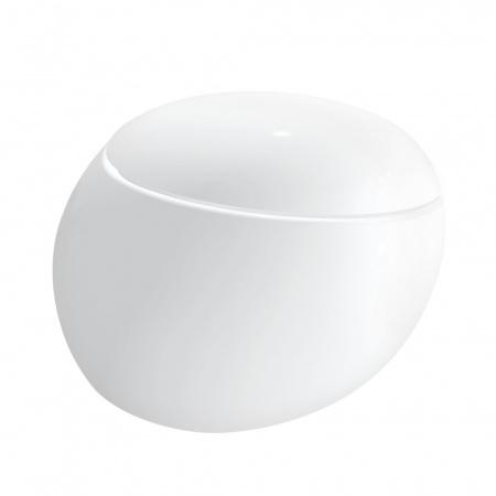 Laufen Alessi One Toaleta WC podwieszana 58,5x39 cm Rimless bez kołnierza ze szkliwieniem LCC, biała H8209714000001