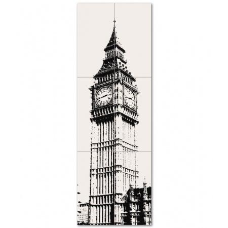 Tubądzin London Dekor ścienny 6-elementowy 598x1798 mm Big Ben 1 Gat.1
