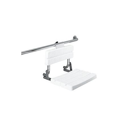 Koło siedzisko prysznicowe LEHNEN FUNKTION uchylne z oparciem (L1223100)