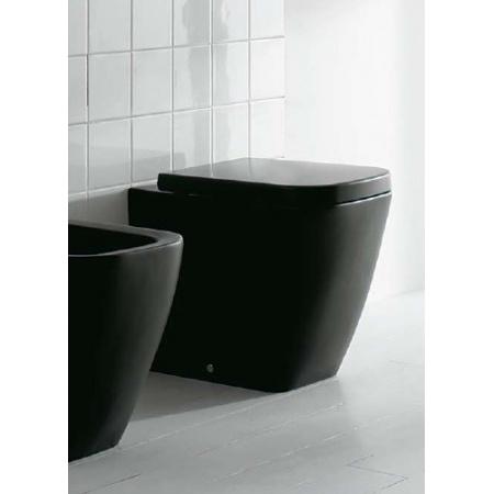 Globo Stone Miska WC stojąca 45x36x42 cm, czarna matowa SS002.AR