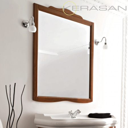 Kerasan Retro Lustro 90x103 cm, rama w kolorze orzech 734540