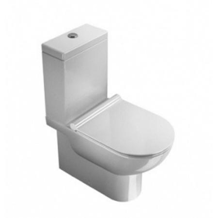 Catalano Sfera Zestaw Miska WC kompaktowa + Zbiornik + Deska wolnoopadająca Slim, biała 1MPSFN00+1CMSZ00+5SCSTP000