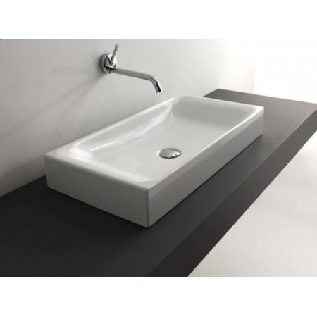 Kerasan Cento Umywalka nablatowa 70x35 cm, biała 3556