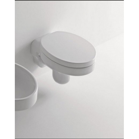 Kerasan Cento Ovale Miska wisząca z deską wolnoopadającą, biała 3515+3588